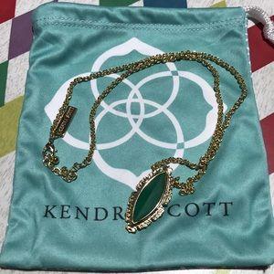 Authentic Kendra Scott Glass Pendant Necklace